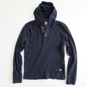 Lucky Brand Mens Henley Hoodie Sweatshirt Size Med